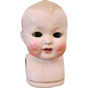 Antique German Shoulder Doll Head - Darling Expression - Sweet Face