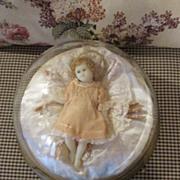 Stunning Wax Christ Child Under Dome - Gorgeous Display