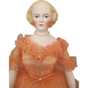 Stunning Emma Clear Bisque Head Doll in Gorgeous Dress