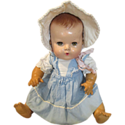 Vintage Blue and White Factory Cotton Dress for your Dy Dee Baby Doll