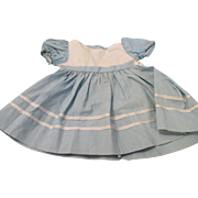 Vintage Blue and White Factory Made Doll Dress