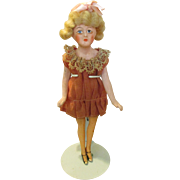 Antique Solid Dome French Doll in Flapper Costume