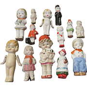 Large Group of Vintage All Bisque Dolls