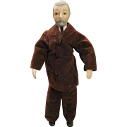 Gentleman Doll House Doll with Molded Hair and Beard