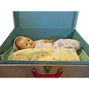 Vintage Tiny Tears in Carry Case - TLC Doll