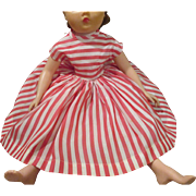 Vintage Red and White Striped Dress for Your Cissy Doll