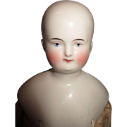 Lovely Antique Biedermeier Solid Dome China Head Doll