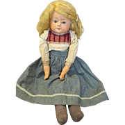 Endearing Antique Paper Mache Head Doll