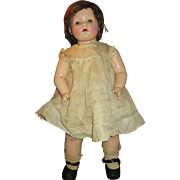 "All Original 1930's Effanbee 27"" Composition Mama Doll - Dressed in Original Outfit"