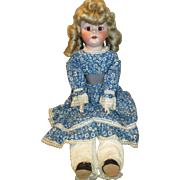 """Adorable 24"""" Fulper Bisque Head Doll with Unusual Look"""