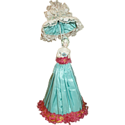 Serene Half Doll on Wire Frame - Lovely Dress