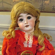 """Sweet French 20"""" DEP Doll with Unusual Face"""