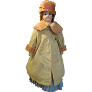 Antique Wool Coat with Matching Bonnet for your French Doll