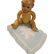Vintage Eiderdown Effanbee Dy Dee Baby Doll Blanket in Very Nice Condition