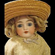Antique Leather Kestner Bisque Head Doll