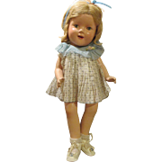 SOLD Vintage Composition Unmarked Shirley Temple Doll