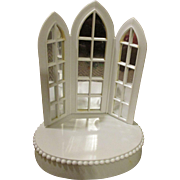 Miniature Doll House Display Piece - Great for Wedding or Christmas