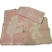 Group of 3 Eiderdown Doll Blankets for your Dy-Dee Baby