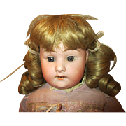 "Antique 24"" Schoenau and Hoffmeister Bisque Head Doll"