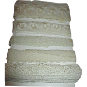 Antique Lace and Trim for Doll Dress Making - Group 1