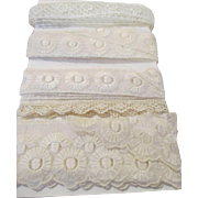 Antique Lace and Trim for Doll Dress Making - Group 2