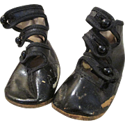 Antique Tri-Button Baby Shoes for Your Antique Doll