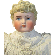 Antique ABG 1222 Parian/Bisque Head Boy Doll