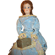 Antique Miniature Strong Box for Your Antique Doll