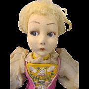 Rare Felt Lenci Boudoir Doll in Original Outfit