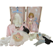 SALE PENDING Vintage Vogue Doll with Case and Clothing