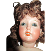 """Angelic 14"""" Revalo Bisque Head Doll - Beautiful Face"""