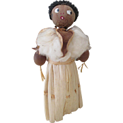 SOLD HOLD FOR MARY - Vintage Corn Husk Nut Head Doll