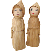 SOLD HOLD FOR MARY - Vintage Corn Husk Dolls