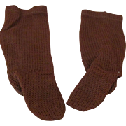 Antique Open Knit Doll Stockings