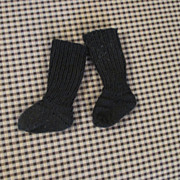 Antique Black Wool Socks for your Bisque Head Doll