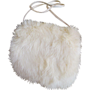 Adorable Antique Rabbit Fur Muff for Your Bisque Head Doll