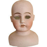 Antique Bisque Ernst Heubach Doll Head with the Early Horseshoe Mark