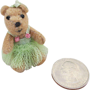 "SALE PENDING Tiny 2"" Bear for Your Bisque Head Doll or Doll House"