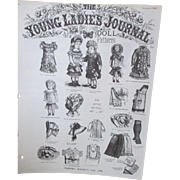 Antique Doll Clothes Pattern from The Young Ladies Journal - December 1, 1882