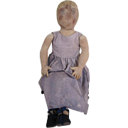 "SALE PENDING Large Cloth Artist Doll 29"" Tall"