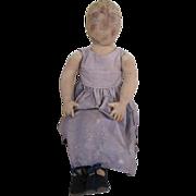 "Large Cloth Artist Doll 29"" Tall"