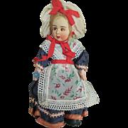 "8"" Italian Cloth Doll in Original Costume"