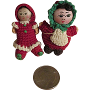 Whimsical Miniature Cloth Dolls