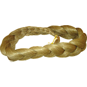 Blond Human Hair Braid for Doll Wig Making