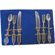 Antique Metal Doll House Sized Cutlery - Miniature Utensils