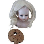 Blond Skin Wig with Cork Pate for Your Antique Doll