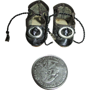 Antique Doll Shoes Marked 0 for your Antique Doll