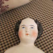 Darling Flat Top China Head Doll - Gorgeous Face