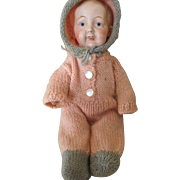 """Adorable 9"""" Bisque Head Character Baby Doll"""