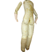 Leather Doll Replacement Body with Bisque Hands
